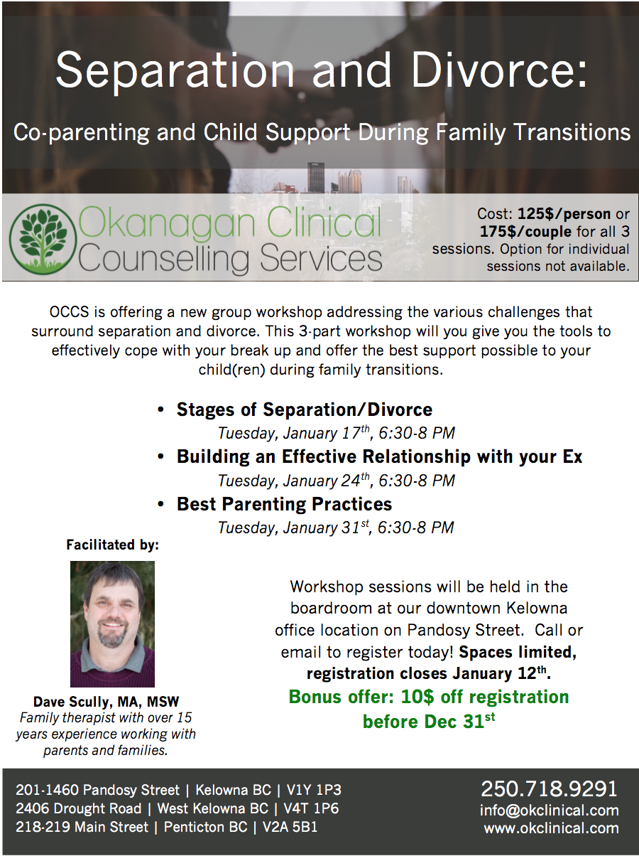 Separation and Divorce - Okanagan Clinical Counselling Services